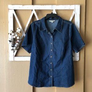 St. John's Bay denim button down shirt